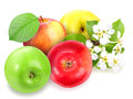 Heap of fresh motley apples Royalty Free Stock Images