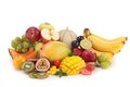 Heap of fruits isolated abundance Stock Photos