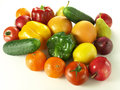 Heap of fruits and vegetables Stock Photos