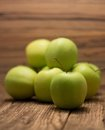 Heap of green apples Royalty Free Stock Photo