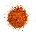 Heap ground paprika isolated on white background Royalty Free Stock Image