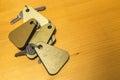 Heap of Hotel Room Keys Royalty Free Stock Photo