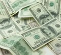 Heap of hundred dollar bills Royalty Free Stock Photo