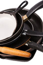 Heap kitchen bakeware pans pot Royalty Free Stock Photo