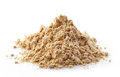 Heap of maca powder isolated on white Royalty Free Stock Image