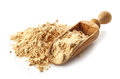 Heap of maca powder isolated on white background Stock Images