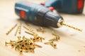 Heap of metal screws Royalty Free Stock Photo