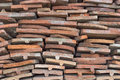 Heap of old terracotta tile roof 2 Royalty Free Stock Photo