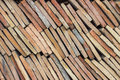 Heap of old terracotta tile roof 3 Royalty Free Stock Photo