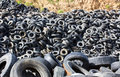 Heap old Tires Royalty Free Stock Photo