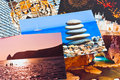 Heap of photo printouts (my photos) Royalty Free Stock Photos