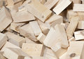 Heap of pine wood cuttings Royalty Free Stock Photo