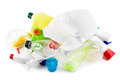 Heap plastic garbage white Royalty Free Stock Photography