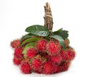 Heap of rambutan isolated on white background Royalty Free Stock Photography
