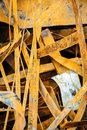 Heap of rusty metal scrap random grungy Stock Image