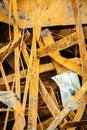 Heap of rusty metal scrap random grungy Stock Image