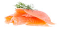 Heap of Salmon on white Royalty Free Stock Photo
