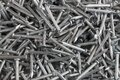 Heap of Silver Concrete nails Royalty Free Stock Photo