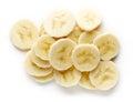 Heap of sliced banana from above Royalty Free Stock Photo