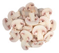 Heap of sliced mushrooms on a white background Royalty Free Stock Photo