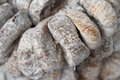 Heap of sun dried figs close up background Royalty Free Stock Image