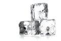 Heap of three ice cubes Royalty Free Stock Photo