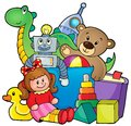 Heap of toys eps vector illustration Stock Image