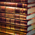 Heap of vintage books Royalty Free Stock Images