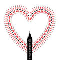 Heart – I love  London - symbols Royalty Free Stock Photo