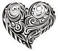 Шаблон в виде сердца.