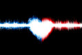 Heart of american sound wave digital graphic as background abstract Royalty Free Stock Photography