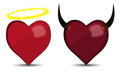 Heart angel and devil Stock Images