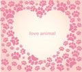 Heart Animal's Footprints
