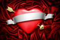 Heart and arrow Royalty Free Stock Photo