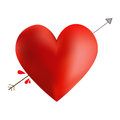 Heart arrow cute with an through it Stock Photography