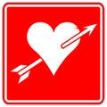 Heart with arrow vector sign Stock Photography