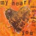 Heart artwork Royalty Free Stock Photo
