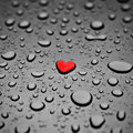 Heart as a rain drop Stock Photography