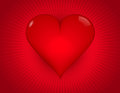 Heart attack bold red background with heavily saturated reds and d shape Royalty Free Stock Photo