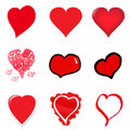 Heart attack collection of vector designed hears ranging from a standard to hand drawn to crayon to vector illustrated Stock Photo