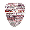 Heart attack medical symbol concept disease words icon design Stock Photos