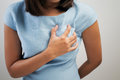Heart attack symptom on white background Stock Photos