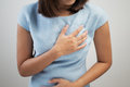 Heart attack symptom Royalty Free Stock Photo