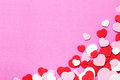 Heart background red pink and white shape valentine s day confetti Stock Photos
