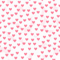 Heart background with white fluffy spots. Seamless vector patter