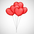Heart balloon illustration of bunch of Stock Images