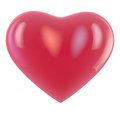Heart balloon shape isolated on white clipping path available for easy selection Stock Photos