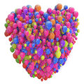 Heart from Balloons Royalty Free Stock Photography