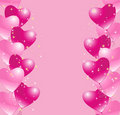 Heart balloons background Royalty Free Stock Image