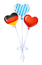 Heart balloons in germany and bavarian colors Stock Photography